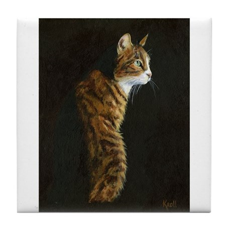 Cat in Sunlight Tile Coaster