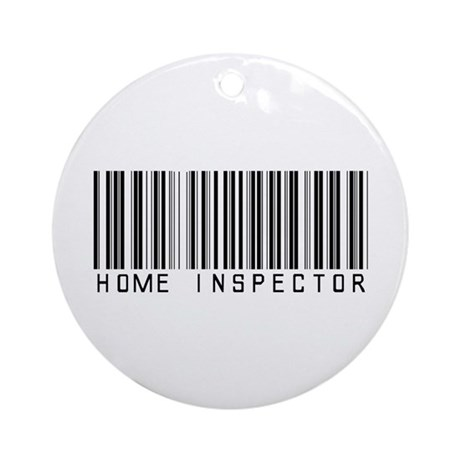 Home Inspector Barcode Ornament (Round)