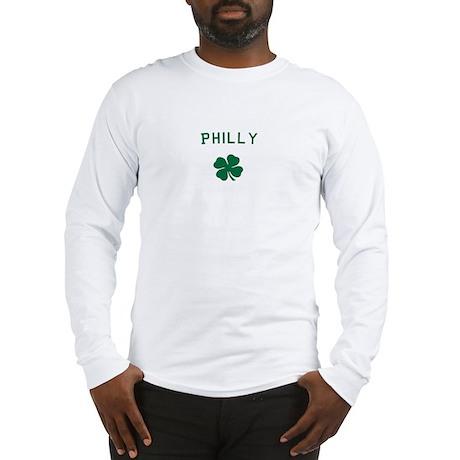 Philly PA Irish Shamrock T-sh Long Sleeve T-Shirt