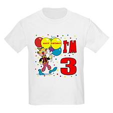 Clown 3rd Birthday Kids T-Shirt