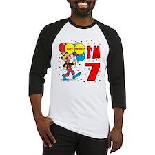 Clown 7th Birthday Baseball Jersey