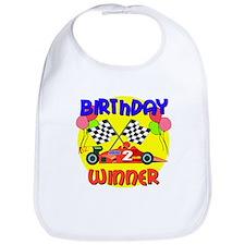 Racecar 2nd Birthday Bib
