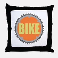 Bike chain ring Throw Pillow