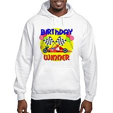 Racecar 4th Birthday Hoodie
