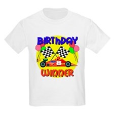 Racecar 8th Birthday Kids T-Shirt