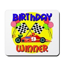 Racecar 9th Birthday Mousepad