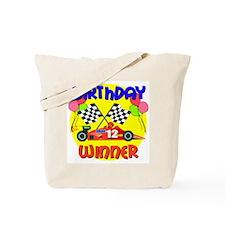 Racecar 12th Birthday Tote Bag