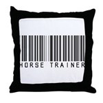 Horse Trainer Barcode Throw Pillow