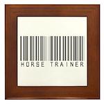 Horse Trainer Barcode Framed Tile