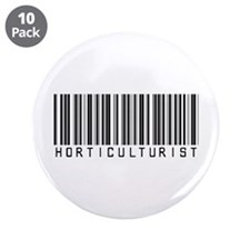 "Horticulturist Barcode 3.5"" Button (10 pack)"