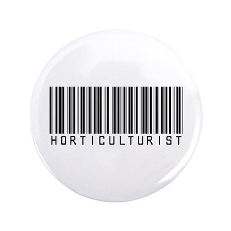 "Horticulturist Barcode 3.5"" Button (100 pack)"