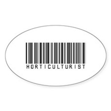Horticulturist Barcode Oval Decal