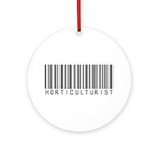 Horticulturist Barcode Ornament (Round)