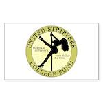 United Strippers College Fund Sticker (Rectangular