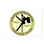 United Strippers College Fund Postcards (Package o