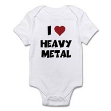 I Love Heavy Metal Baby One Piece
