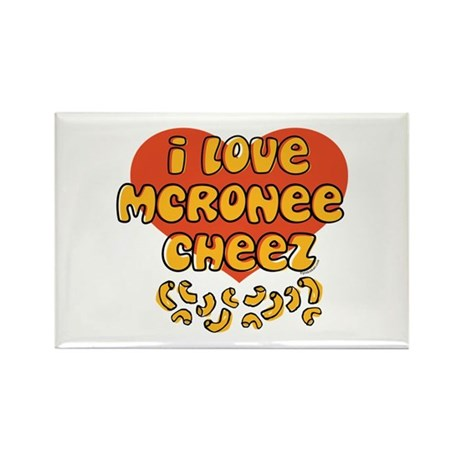 I Love Mac and Cheese Rectangle Magnet