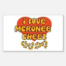 I Love Mac and Cheese Rectangle Decal