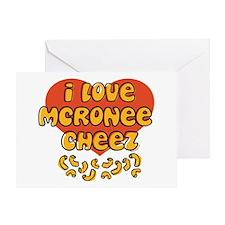 I Love Mac and Cheese Greeting Card
