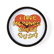 I Love Mac and Cheese Wall Clock