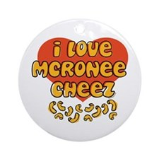 I Love Mac and Cheese Ornament (Round)