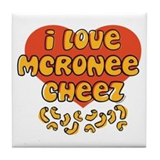 I Love Mac and Cheese Tile Coaster
