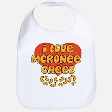 I Love Mac and Cheese Bib