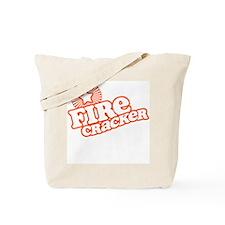 Retro Firecracker Tote Bag
