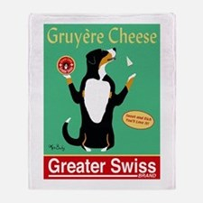 Greater Swiss Gruyère Cheese Throw Blanket