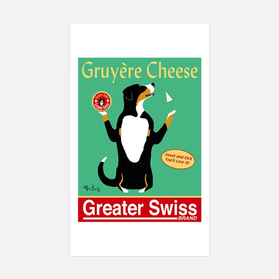 Greater Swiss Gruyère Ch Sticker (Rectangle 10 pk)