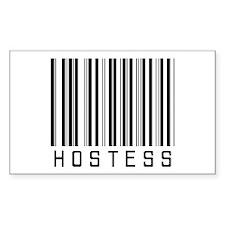 Hostess Barcode Rectangle Decal