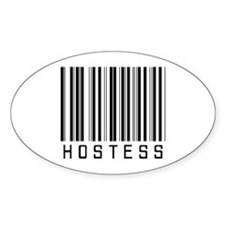 Hostess Barcode Oval Decal