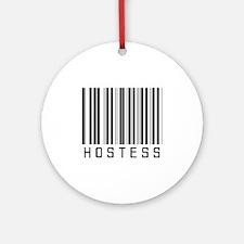 Hostess Barcode Ornament (Round)