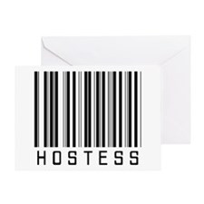 Hostess Barcode Greeting Card