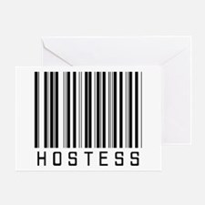 Hostess Barcode Greeting Card