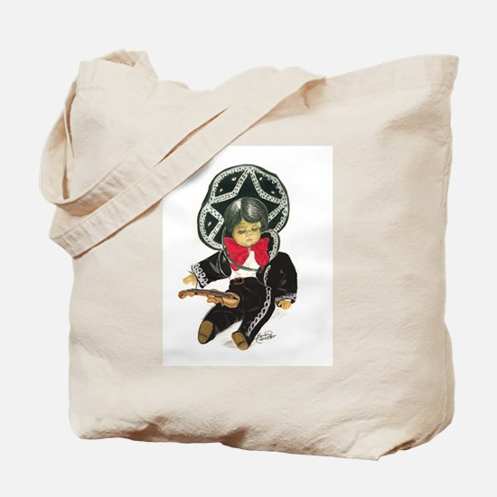 Mexican Boy Doll as Mariachi Tote Bag