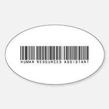Human Res. Asst. Barcode Oval Decal
