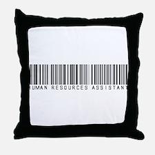 Human Res. Asst. Barcode Throw Pillow