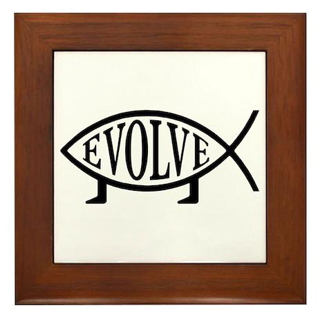 Evolution Fish Framed Tile