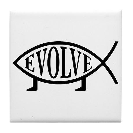 Evolution Fish Tile Coaster