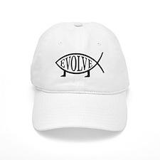 Evolution Fish Baseball Baseball Cap