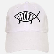 Evolution Fish Baseball Baseball Cap