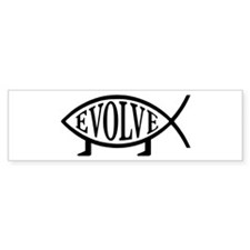 Evolution Fish Bumper Bumper Sticker