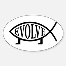 Evolution Fish Oval Decal