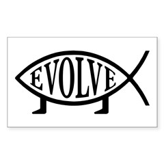 Evolution Fish Rectangle Decal