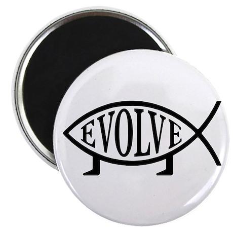 """Evolution Fish 2.25"""" Magnet (10 pack)"""