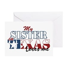 My Sister in TX Greeting Card