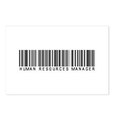 Human Res. Mgr. Barcode Postcards (Package of 8)