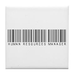Human Res. Mgr. Barcode Tile Coaster