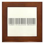 Human Res. Mgr. Barcode Framed Tile